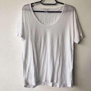 Zara White W&B T-Shirt