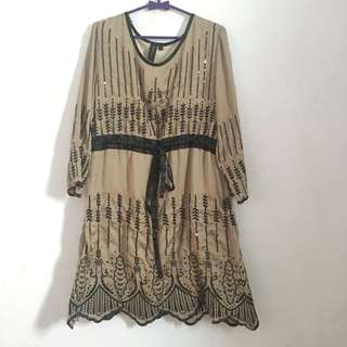 Brown black dress