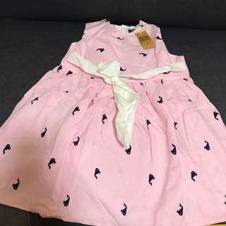 BNWT pink whale oxford dress