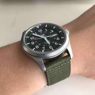 Seiko automatic watch nylon