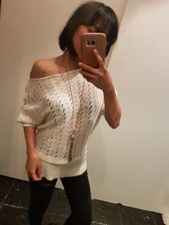 Knitted off white top