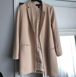 Nude Blazer Jacket Forever 21