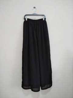 Long Black Wide Leg Pants