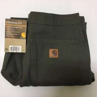 CARHARTT B25 WASHED DUCK WORK SHORT 軍綠短褲 W31