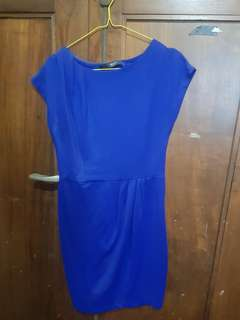 Dress bodycon biru