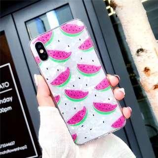 Watermelon glitter case