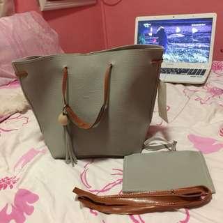 🌸BRANDNEW🌸 Gray 2 in 1 Bag