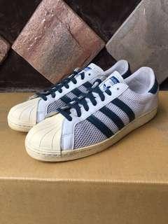 🚚 ADIDAS SUPERSTAR 80s 白藍 呼吸鞋 二手 US11