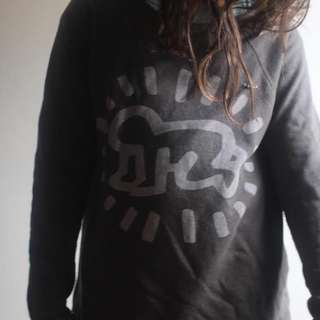 authentic KEITH HARING x OBEY scoop-neck jumper