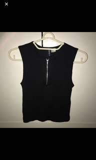 H&m zipper knit top