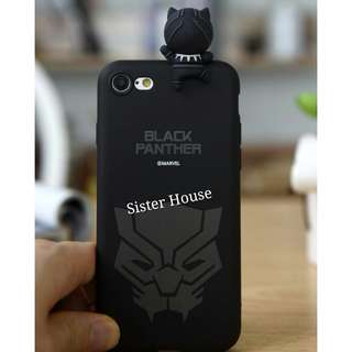 (包郵)🇰🇷Marvel Black Panther 3D Figure Phone Case 黑豹立體公仔手機殼
