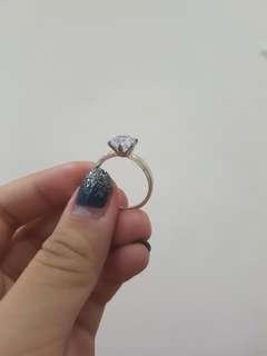 REPRICE cincin silver diamond anti-karat