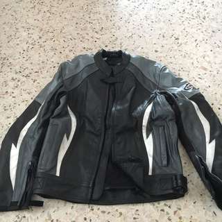 Gmax Riding Leather Jacket S-M Size