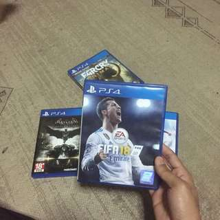 Ps4 Games FIFA 18, MIRROR EDGE CATALYST, FARCRY