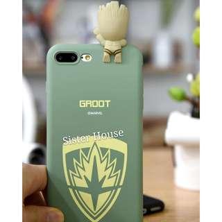 (包郵)🇰🇷Marvel Groot 3D Figure Phone Case 樹人立體人物公仔手機殼