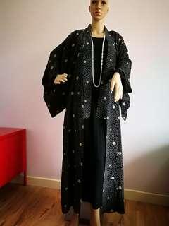 Black Kimono Long Cardigan