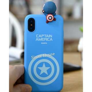 (包郵)🇰🇷Marvel Captain America 3D Figure Phone Case 立體公仔手機殼
