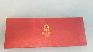 2008年北京奧運特許吉祥物福臨門鍍金套饃