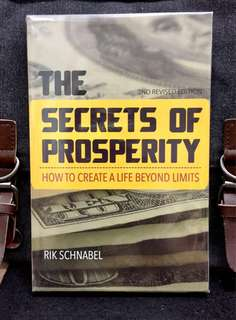 # Highly Recommended《 Good Condition Preloved Paperback + 》Rik Schnabel - THE SECRETS OF PROSPERITY : How To Create A life Beyond Limits