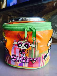 Authentic THE POWERPUFF GIRLS Round Patent Pouch