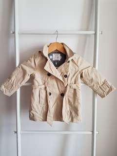 Zara Babygirl Trench Coat Jacket
