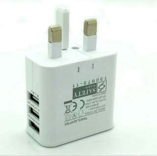 Brand New 5V 2~2.5A Dual & 3 USB Port Wall Charger Charging Adapter