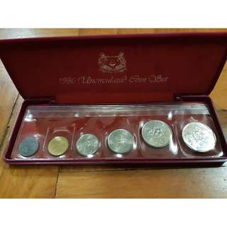 🚚 1986 Uncirculated Coin Set