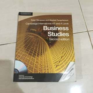 Cambridge A level Business studies (second edition)
