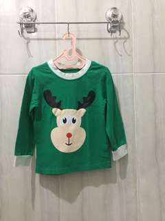 deer printed long sleeves