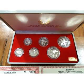 1985 sterling silver proof coin set
