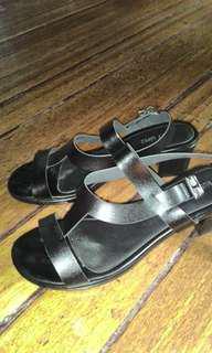 Black sandal with 1inc.heels