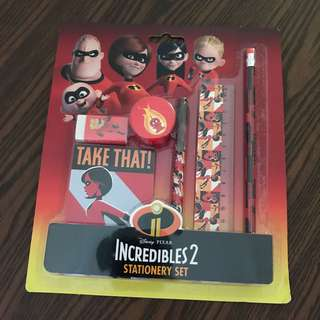 Incredibles 2 Stationery Ser FREE POSTAGE