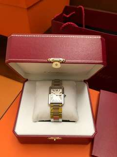 Authentic Cartier Tank Solo LM watch