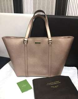 💯 Guranteed Authentic Kate Spade Newbury Lane Rose Gold Dally Purse Tote Bag