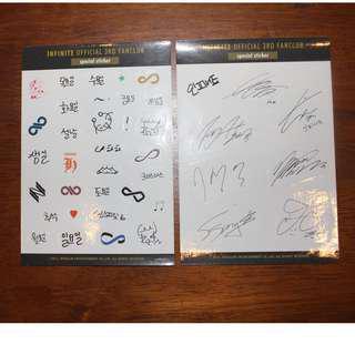 Infinite - 3rd Inspirit Official Fanclub Sticker Set (2 sheets)