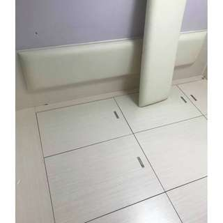 經典純白地台床+衣櫃