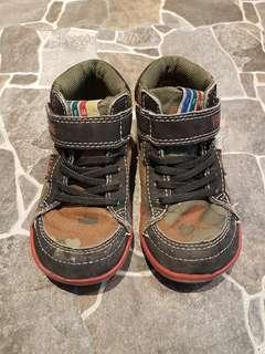 🚚 男童 IFME 迷彩綠高筒學步鞋 (16cm)