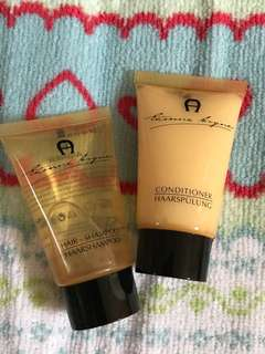 Aigner shampoo and conditioner