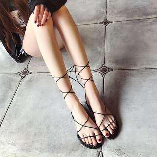 🚚 全新✨黑色 羅馬 平底 涼鞋
