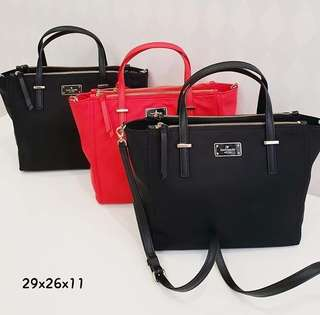 Kate Spade Alyse Prickly Pear Red and Black