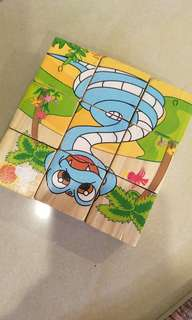 Wooden puzzle, can make 6 images