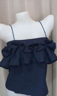 TUBE/ OFF THE SHOULDER TOP WITH RUFFLES