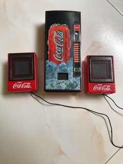 Coca Cola mini dispenser machine radio