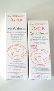 Avene XeraCalm AD lipid replenishing cleansing oil and balm