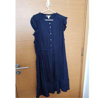 Dark Blue H&M Maternity Dress L
