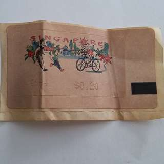 1 piece Old unuse 20cents stamp for sale at $8 including free Singapore Normal Mail