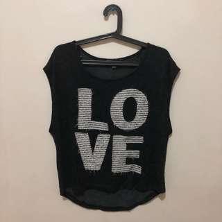 L.O.V.E Gray Top