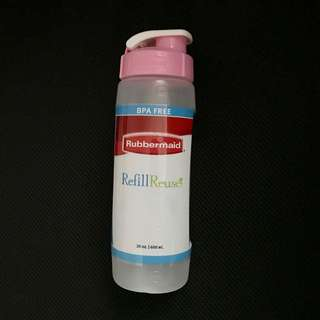 Pink Rubbermaid Refill, Reuse 20-ounce Chug Bottle