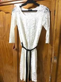Cinderella White lacey dress