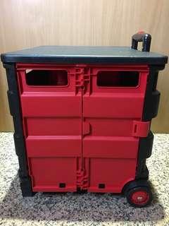 加大型變形金剛摺疊手推車 購物推車 變形摺疊手推車 車內置物箱 居家收納箱 露營置物箱 工具箱 折疊置物箱